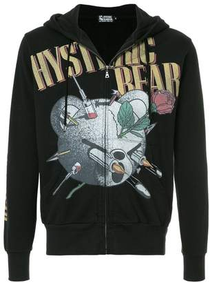 Hysteric Glamour bear logo hooded sweatshirt