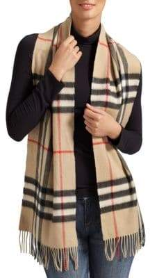 Burberry Classic Giant Check Cashmere Scarf