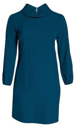 Tahari Long Split Sleeve Crepe Sheath Dress