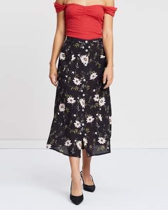 380ecf3576be Miss Selfridge Clare Floral Print Midi Skirt
