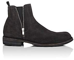 Officine Creative Men's Double-Zip Suede Chelsea Boots - Gray