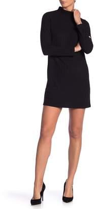 Kensie Solid Rib Knit Sweater Dress