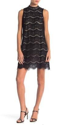 Love, Fire Sleeveless Lace Trapeze Dress