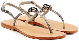 Mystique Embellished Leather Sandals