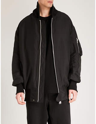 Y-3 Y3 Oversized-collar shell bomber jacket