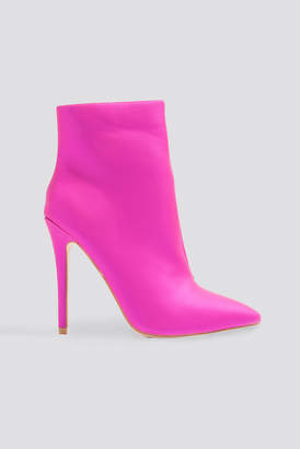 boohoo Pearl Ankle Boot Pink
