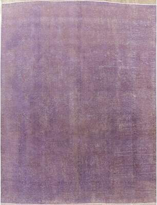 "Bloomsbury Market One-of-a-Kind Worthington Over-Dyed Antique Distressed Hand-Knotted 8' x 10'8"" Wool Purple Area Rug Bloomsbury Market"