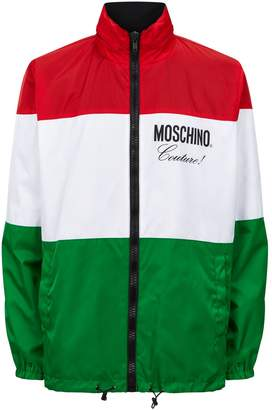 Moschino Flag Funnel Neck Jacket