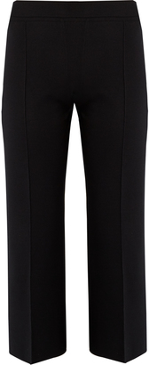 Maria wide-leg silk-blend cropped trousers