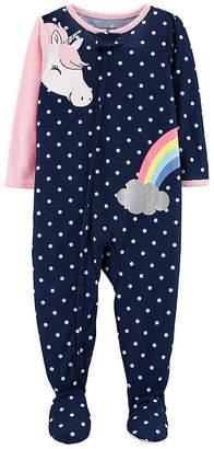 Carter's Long Sleeve Fleece One Piece Pajama - Girls