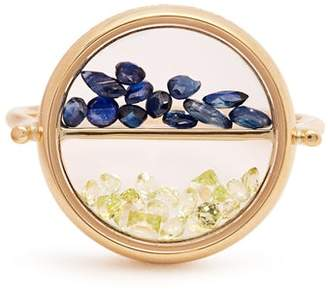 Aurelie Bidermann Fine Jewellery Fine Jewellery - Sapphire, Peridot & Yellow Gold Ring - Womens - Yellow Gold