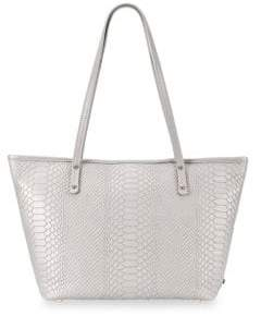 GiGi New York Taylor Snake-Embossed Leather Tote