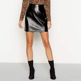 Red Herring Black Vinyl Mini Skirt