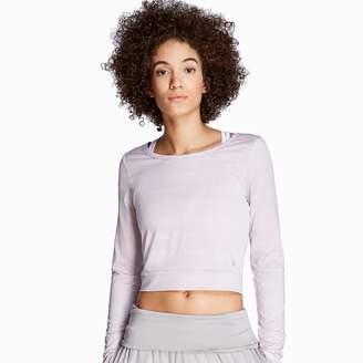 Danskin Women's Cutout Back Long Sleeve Top