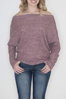 Cherish Off Shoulder Sweater