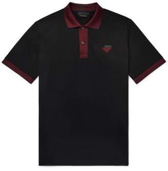 Prada Contrast-Trimmed Cotton-Piqué Polo Shirt