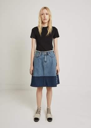 Acne Studios Halona Denim A-Line Skirt