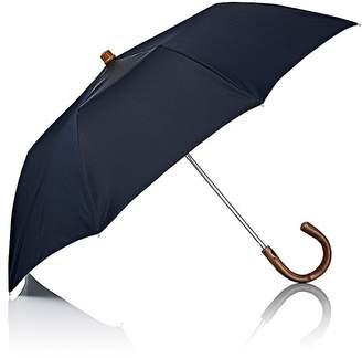 Barneys New York Men's Herringbone Folding Umbrella