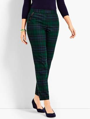 Talbots Black Watch Plaid Straight Ankle Pant - Curvy Fit