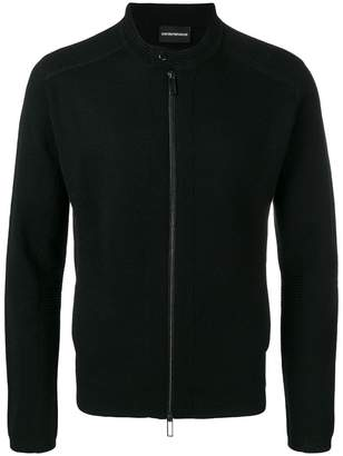 Emporio Armani fitted zipped cardigan