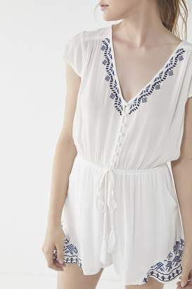 Urban Outfitters Boho Embroidered Romper