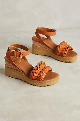 See By Chloe Braided Leather Wedges $278 thestylecure.com