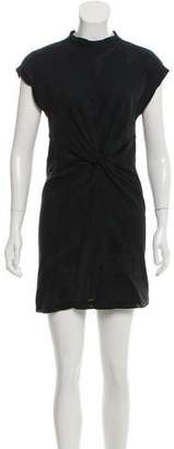 Alexander Wang Mesh-Accented Mini Dress