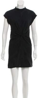Alexander Wang Mesh-Accented Mini Dress