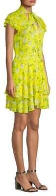 Alice + Olivia Moore Flutter Sleeve Mini Dress