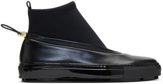 Marni Black Neoprene and Leather Sock Boots