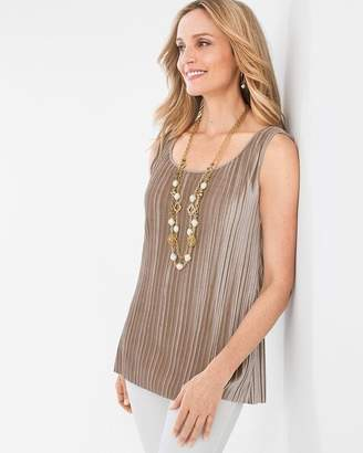 Chico's Chicos Convertible Pleated Knit Velvet Tank