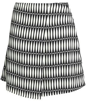 Lanvin Printed Crepe Mini Skirt