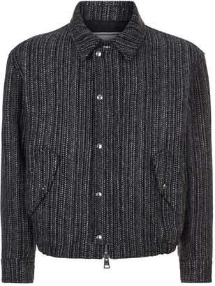 Ami Paris Striped Wool Blouson Jacket