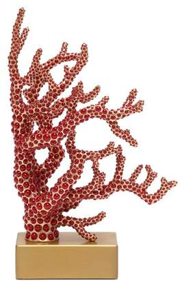 L'OBJET L'Objet Lobjet - Coral 24kt Gold Plated Bookend - Womens - Red Multi