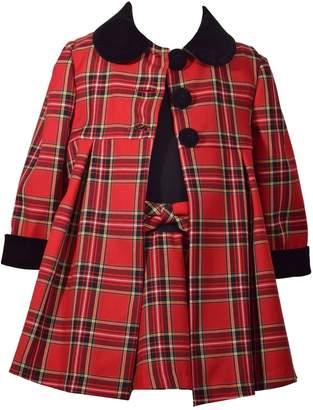 Bonnie Jean Baby Girl Plaid Dress & Coat Set