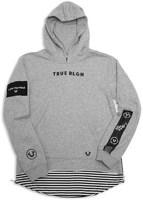 True Religion Boys' Long French Terry Hoodie - Little Kid, Big Kid
