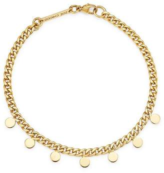 Chicco Zoë 14K Yellow Gold Itty Bitty Dangling Discs Curb Chain Bracelet