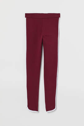 H&M Leggings with side stripes