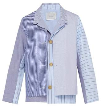 By Walid Fred Layered Cotton Jacket - Mens - Light Blue