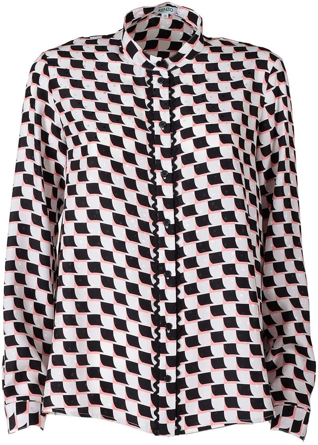 Kenzo Kenzo Post-it Silk Jaquard Blouse