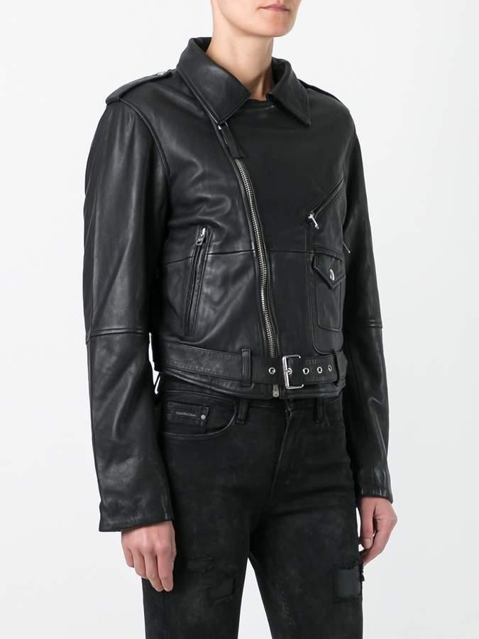 CK Calvin Klein classic biker jacket