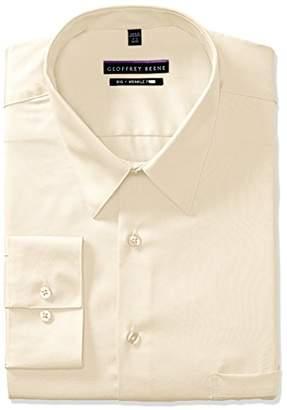 Geoffrey Beene Mens Dress Shirts Big Fit Solid Point Collar