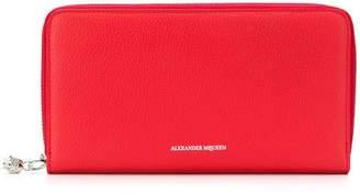Alexander McQueen zip-around continental wallet