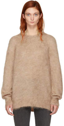 Alexander Wang Pink Mohair Solid Pullover