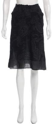 Issey Miyake Textured Knee-Length Skirt