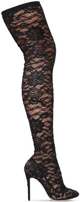 Dolce & Gabbana 105mm Stretch Lace Over The Knee Boots