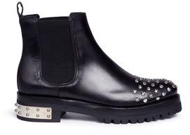 Alexander McQueenAlexander McQueen 'Mod' stud leather Chelsea boots