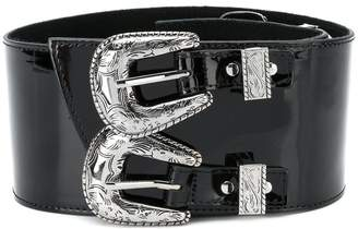 B-Low the Belt double buckle waist belt