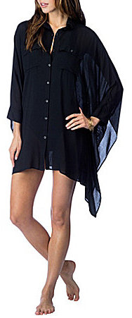 Lauren Ralph LaurenLauren Ralph Lauren Viscose Blake Button Front Shirt Cover-Up