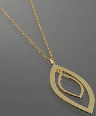 Argento Vivo gold double marquise pendant necklace